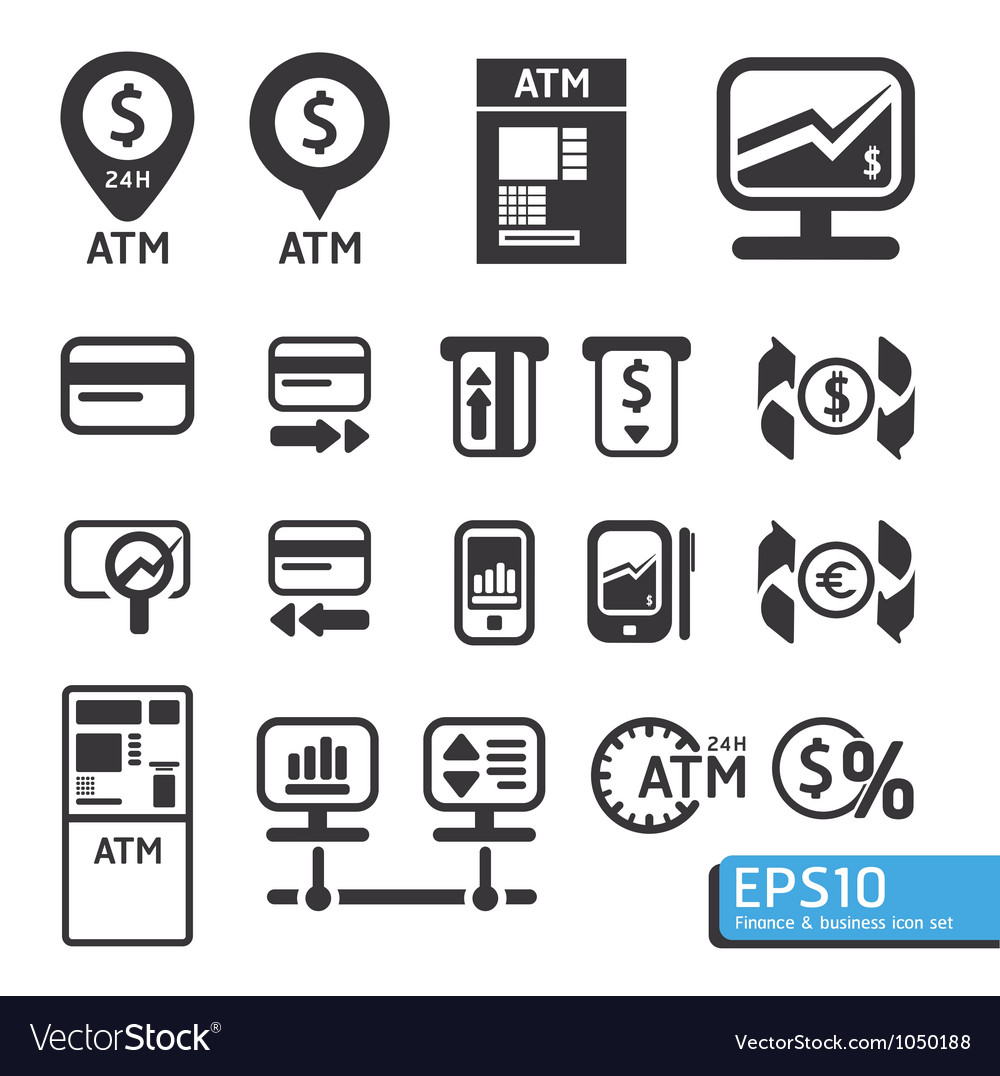 Finance and business icon set vector | Price: 1 Credit (USD $1)