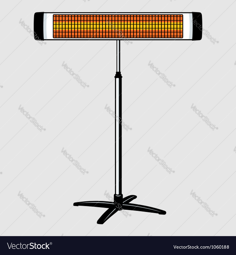 Infrared heater vector | Price: 1 Credit (USD $1)