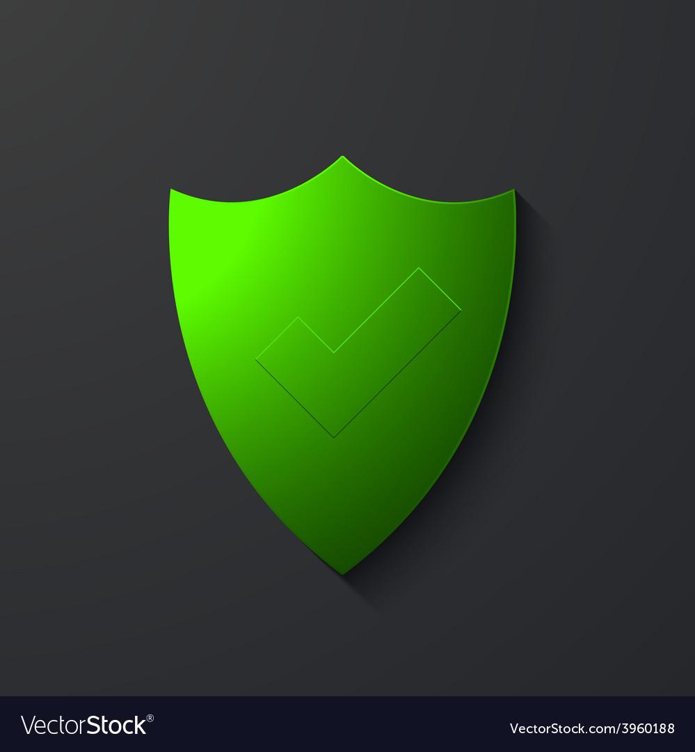 Modern shield icon on gray vector | Price: 1 Credit (USD $1)