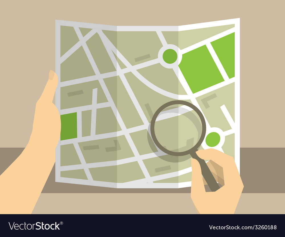 Search on map vector | Price: 1 Credit (USD $1)