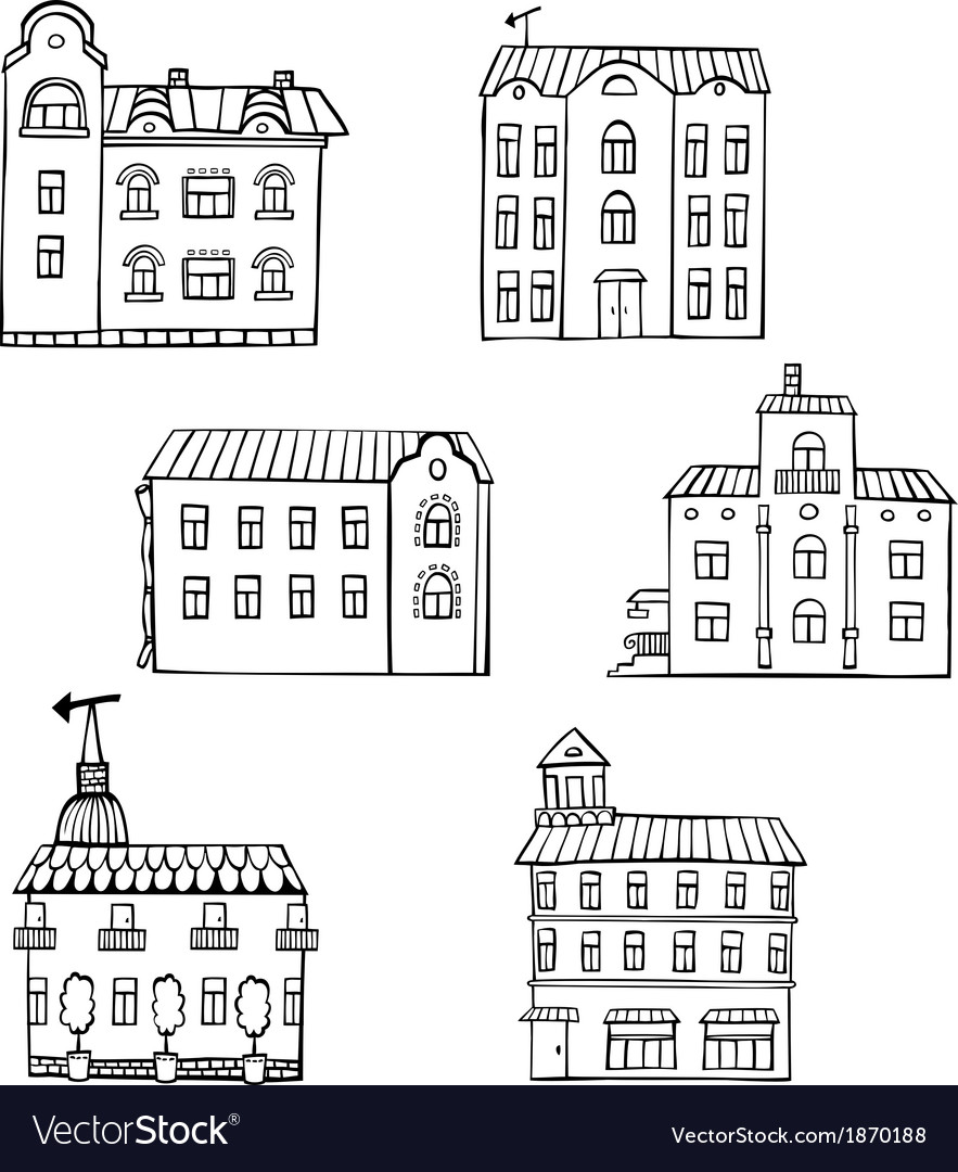 Set with houses vector | Price: 1 Credit (USD $1)