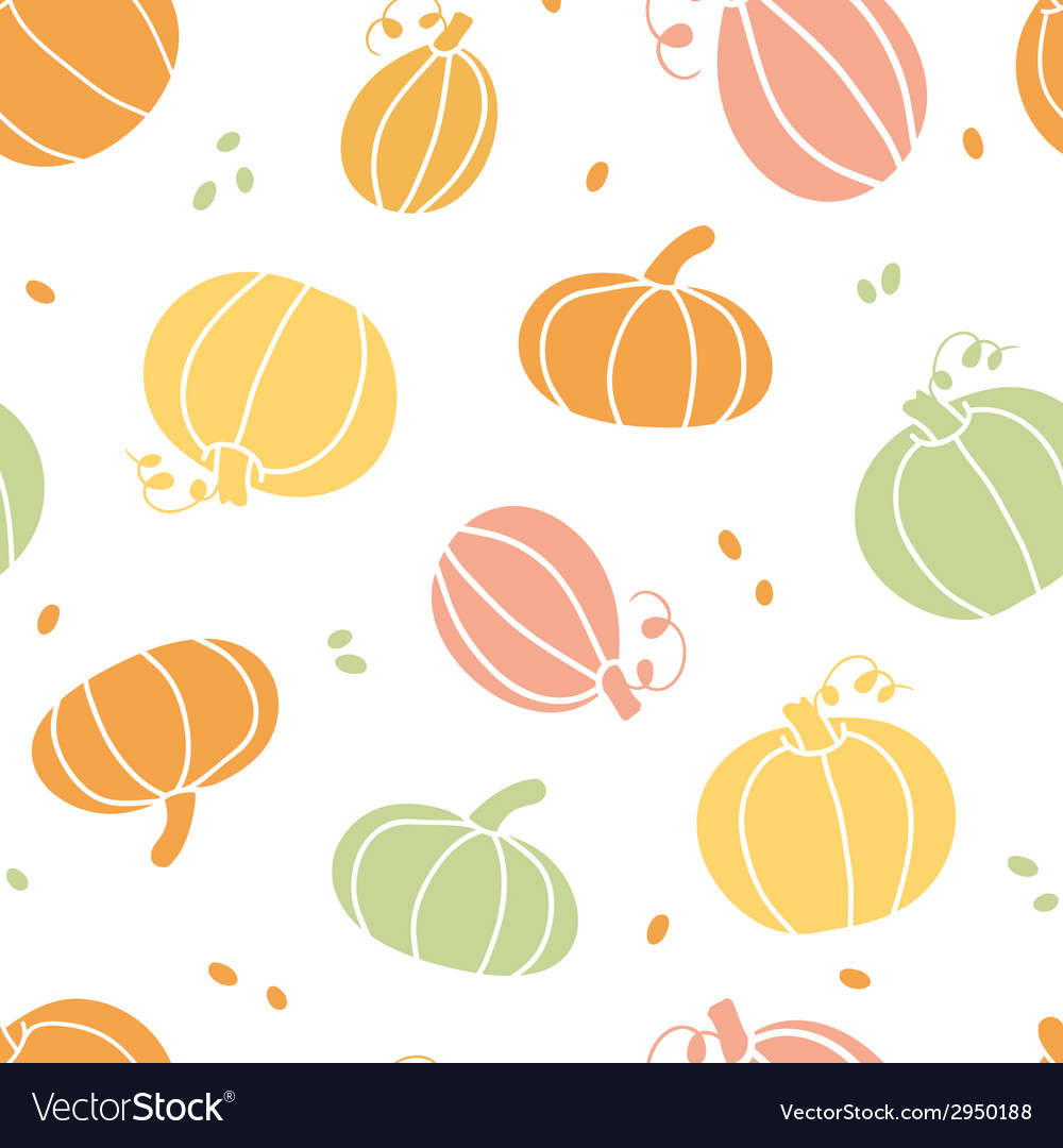 Thanksgiving colorful pumpkins silhouettes vector | Price: 1 Credit (USD $1)