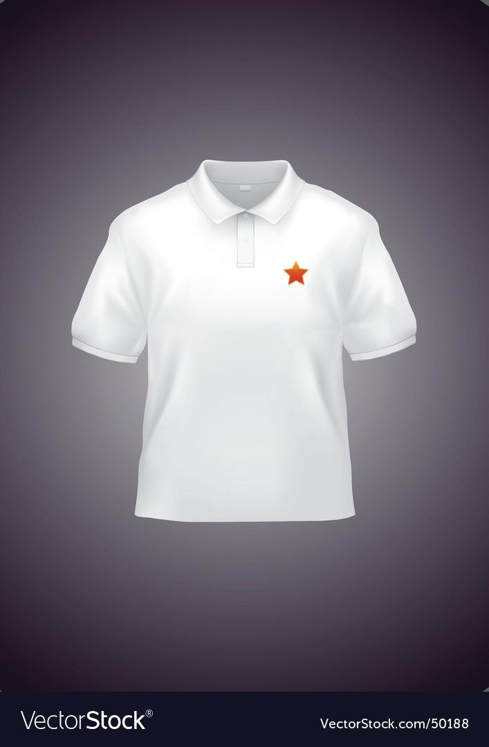 White polo shirt vector | Price: 1 Credit (USD $1)