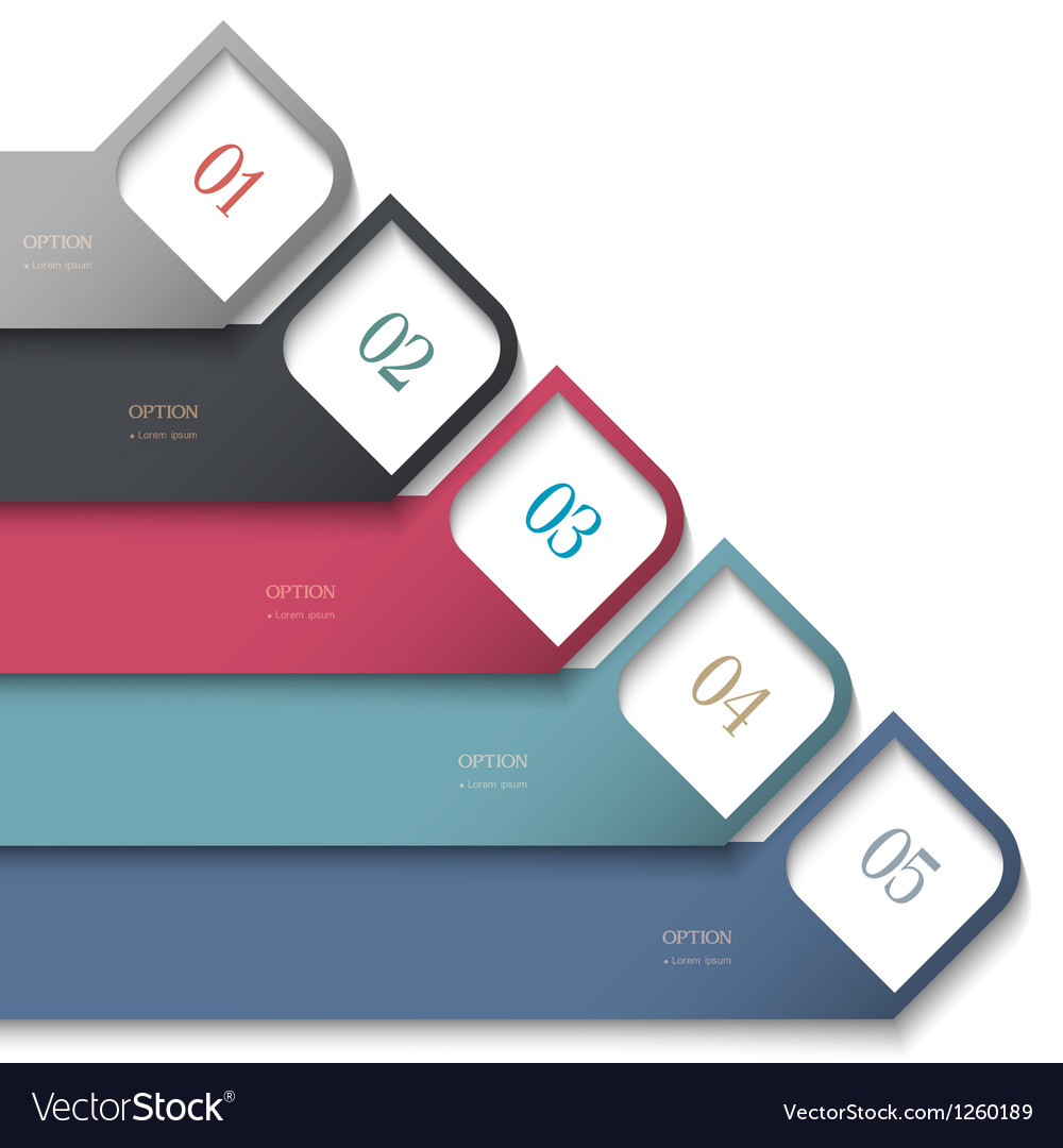 3d numbered banners vector | Price: 1 Credit (USD $1)