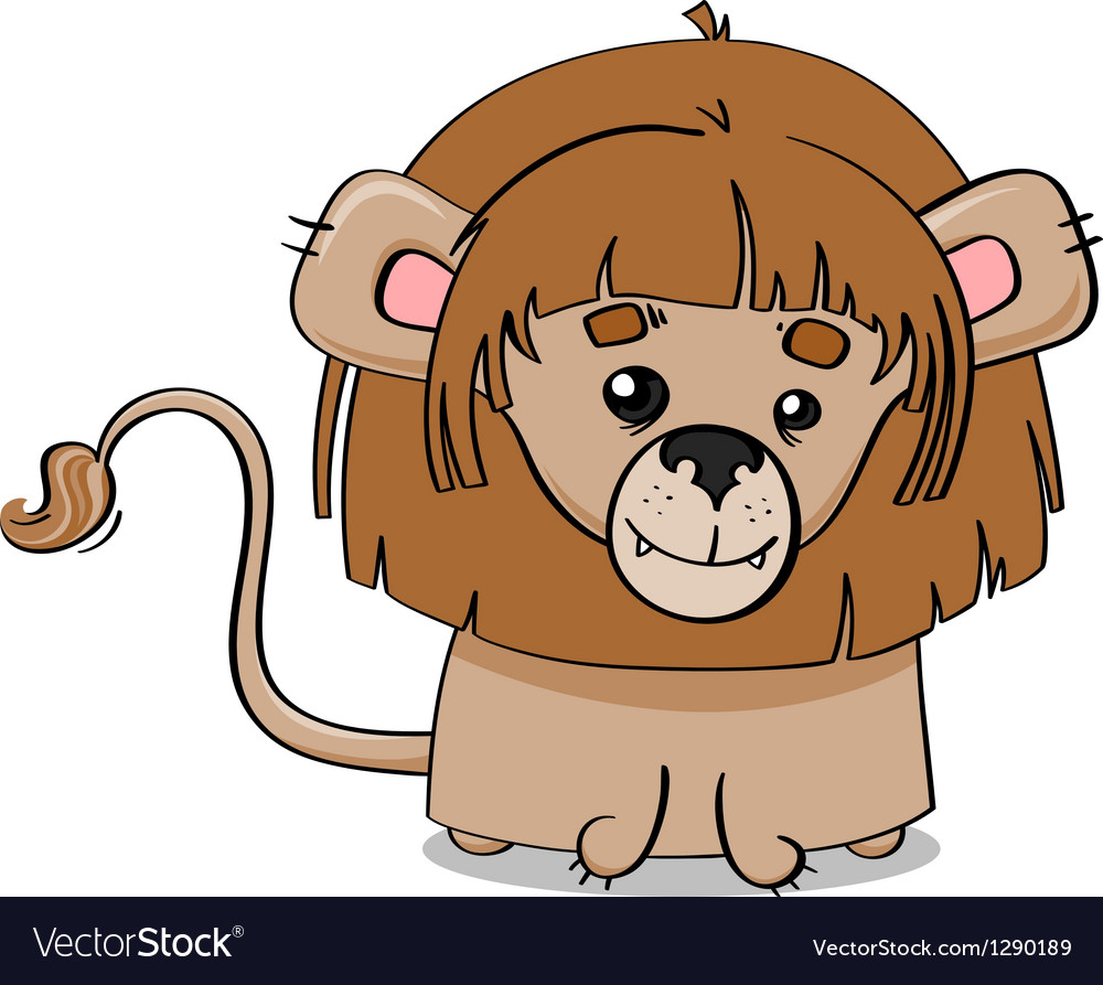 Adorable lion cub vector | Price: 1 Credit (USD $1)