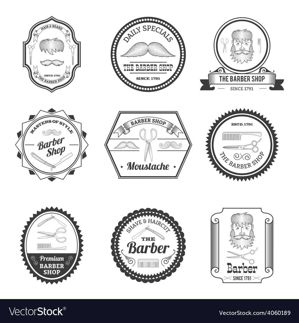 Barber shop emblems vector | Price: 1 Credit (USD $1)
