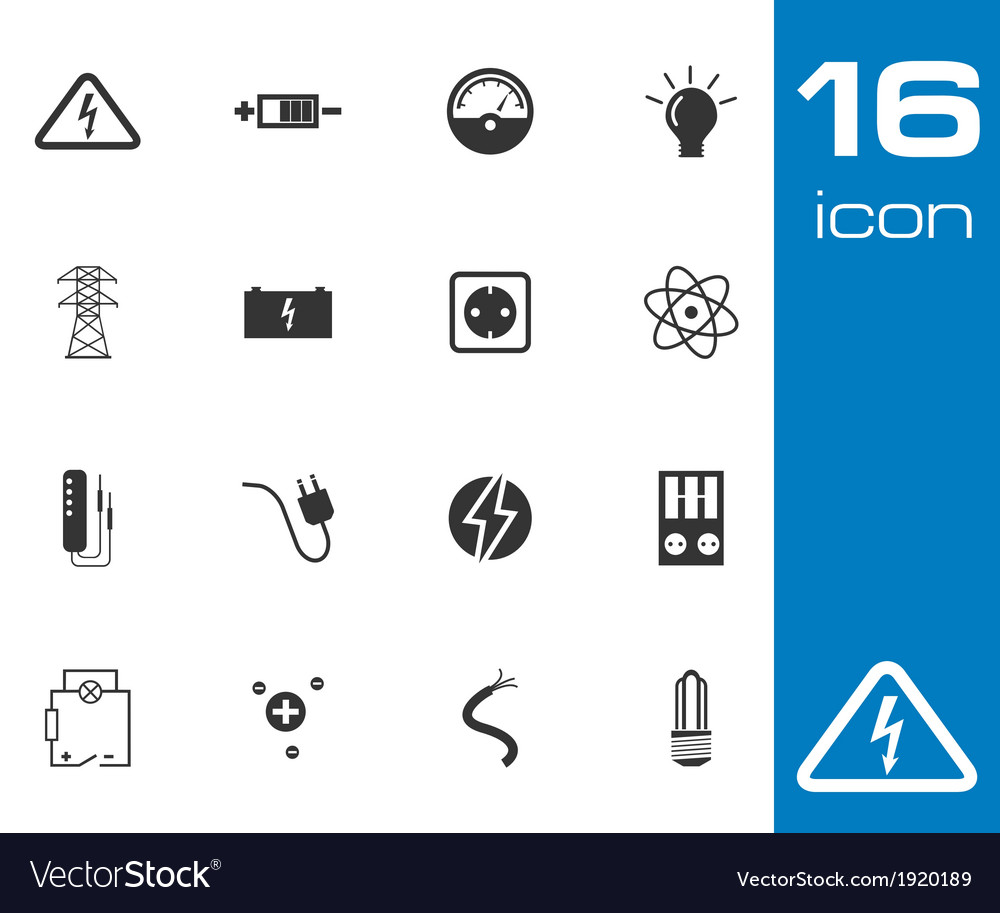 Black education icons set on gray background vector | Price: 1 Credit (USD $1)