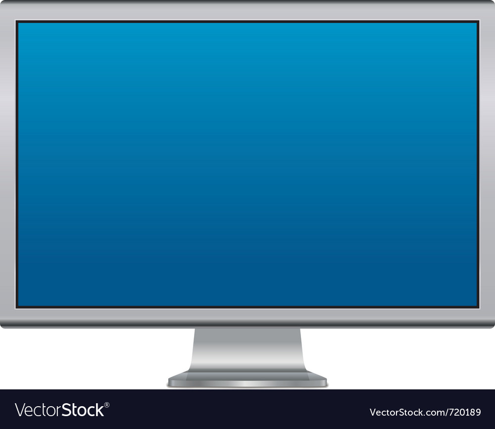 Blank lcd monitor vector | Price: 1 Credit (USD $1)