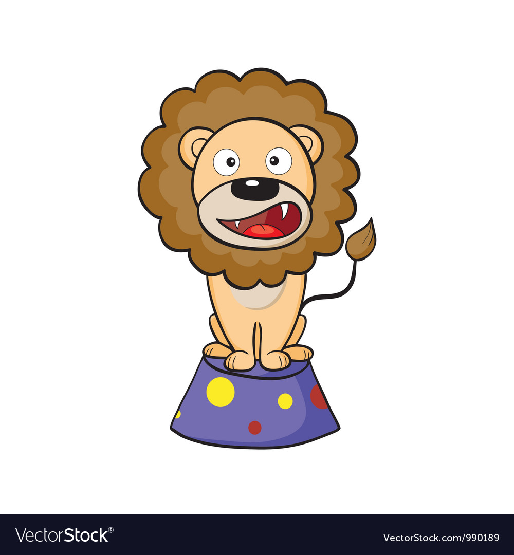 Circus lion on a pedestal vector | Price: 1 Credit (USD $1)