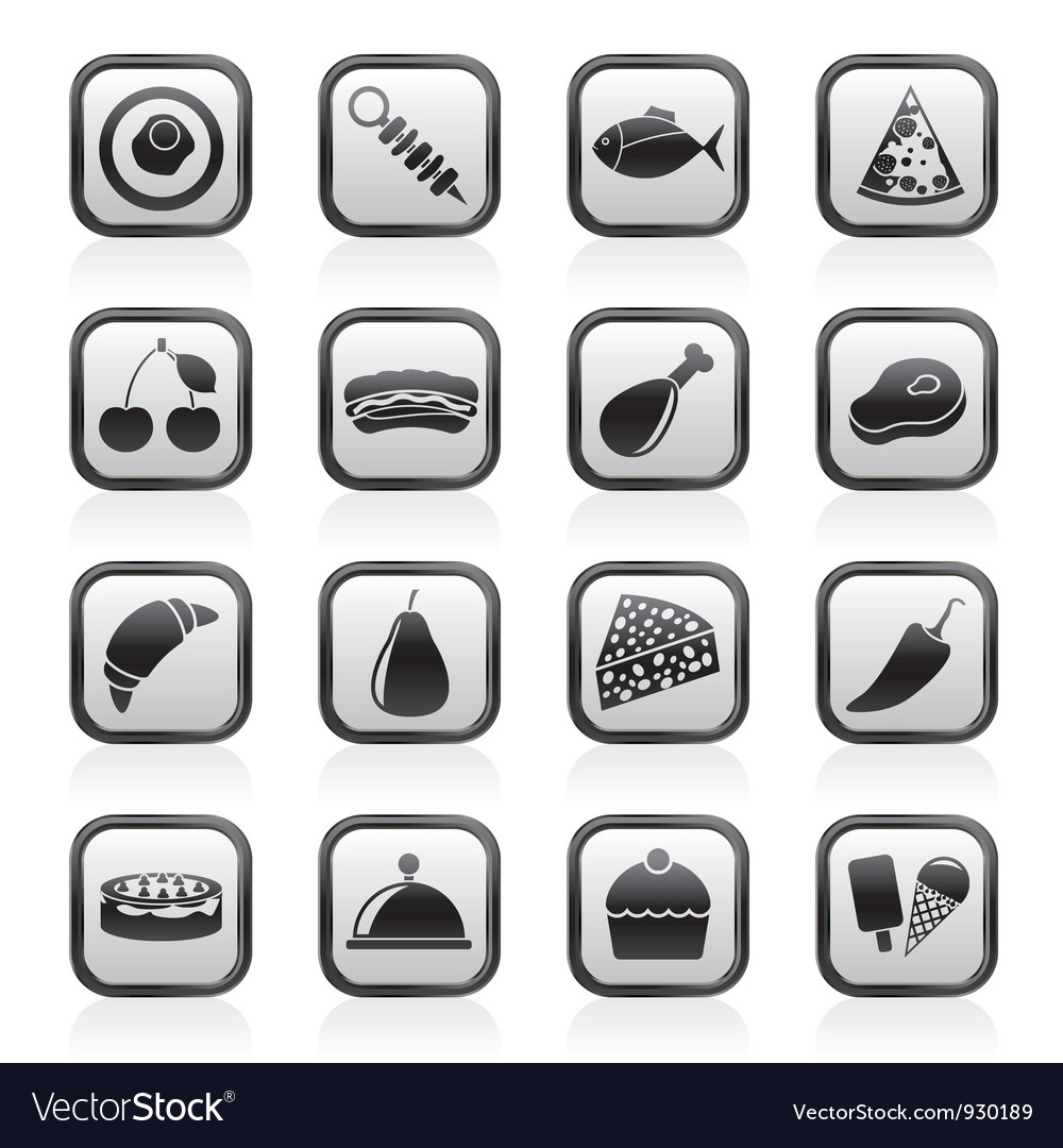 Different kind of food icons vector | Price: 1 Credit (USD $1)