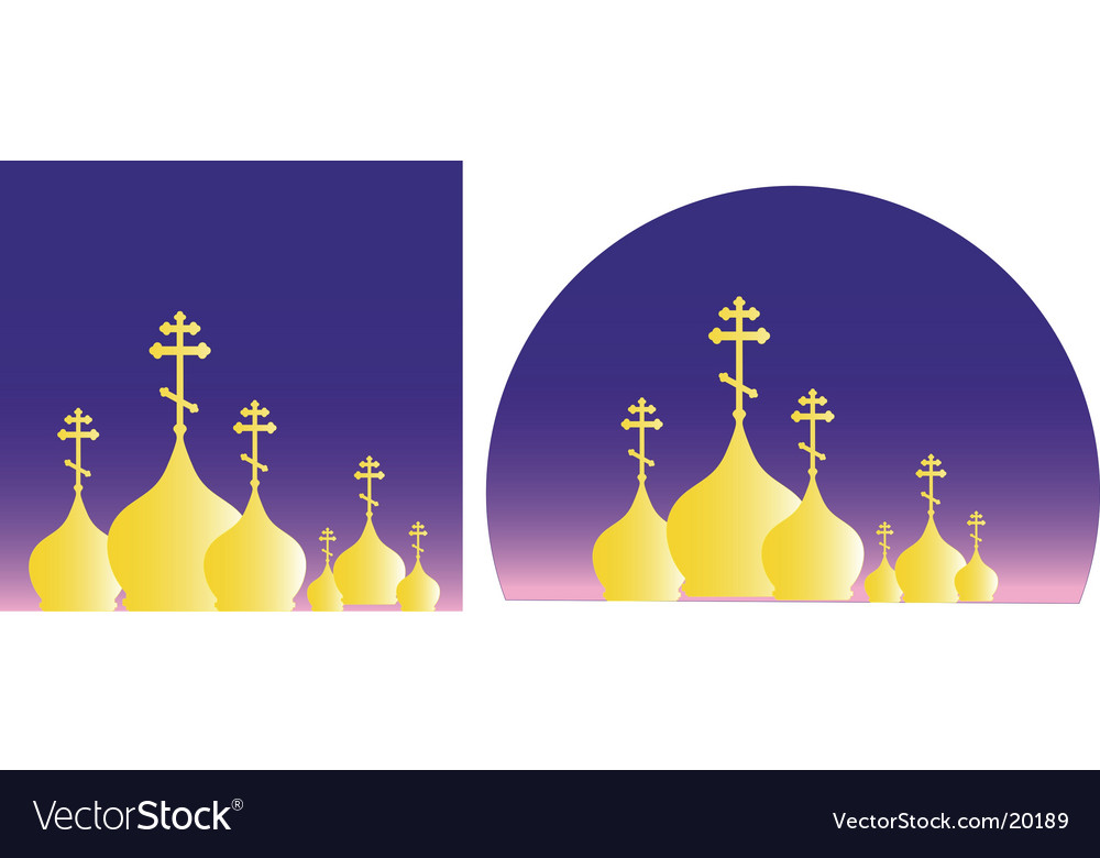 Domes and crosses vector | Price: 1 Credit (USD $1)