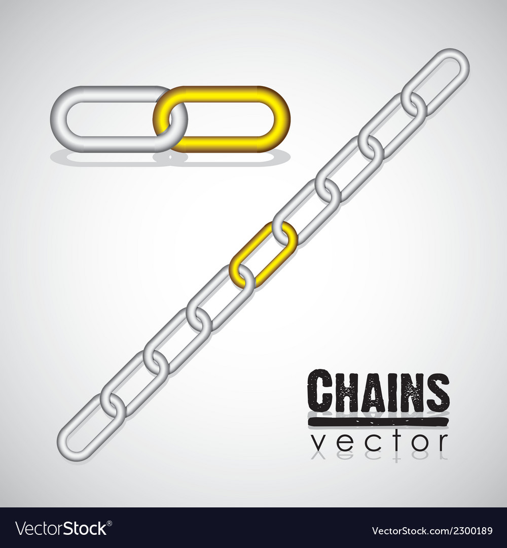 Gold and silver link chain vector | Price: 1 Credit (USD $1)