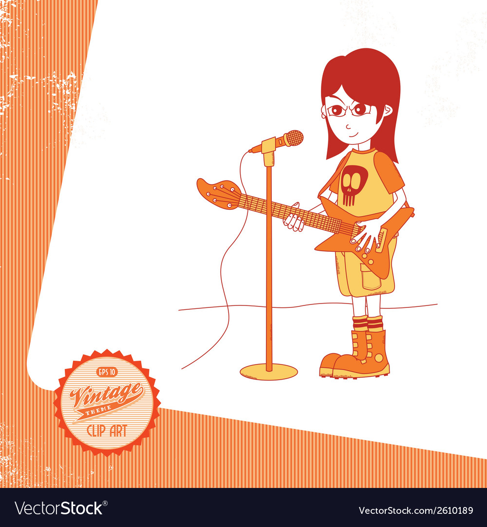 Hipster musician vector | Price: 1 Credit (USD $1)