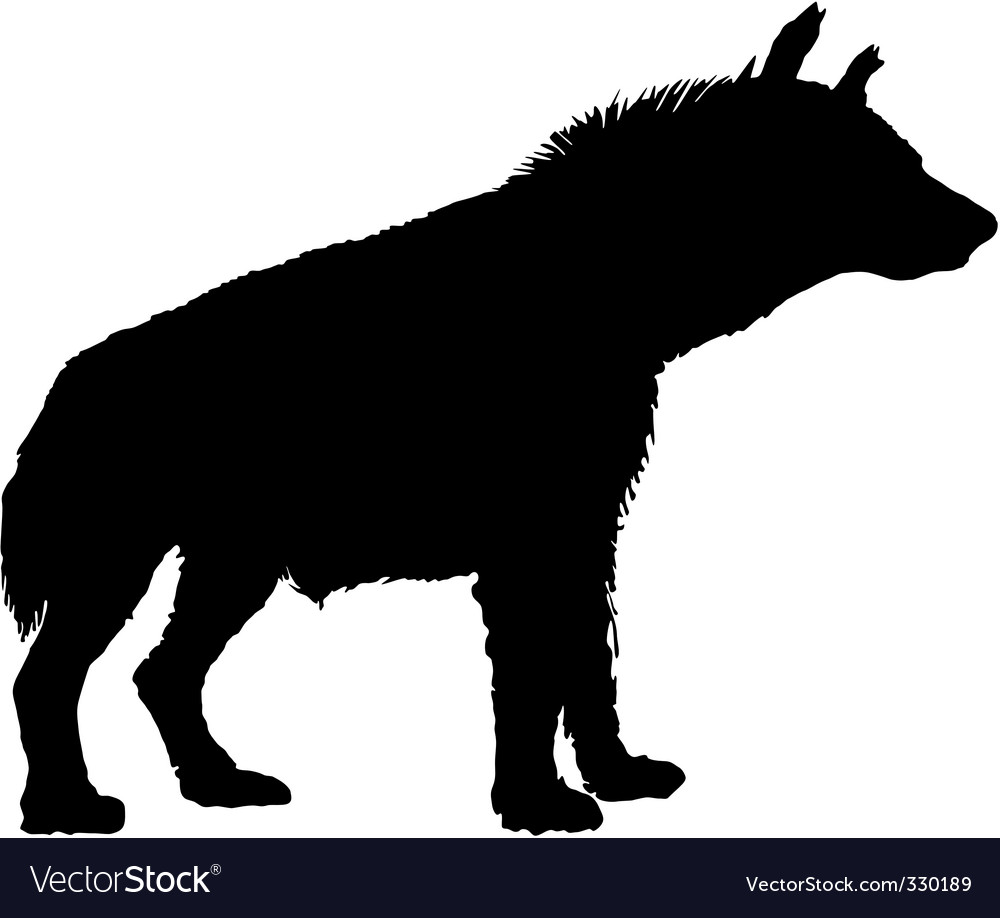 Hyena silhouette vector | Price: 1 Credit (USD $1)