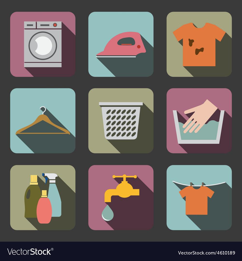 Laundry flat icon vector | Price: 1 Credit (USD $1)