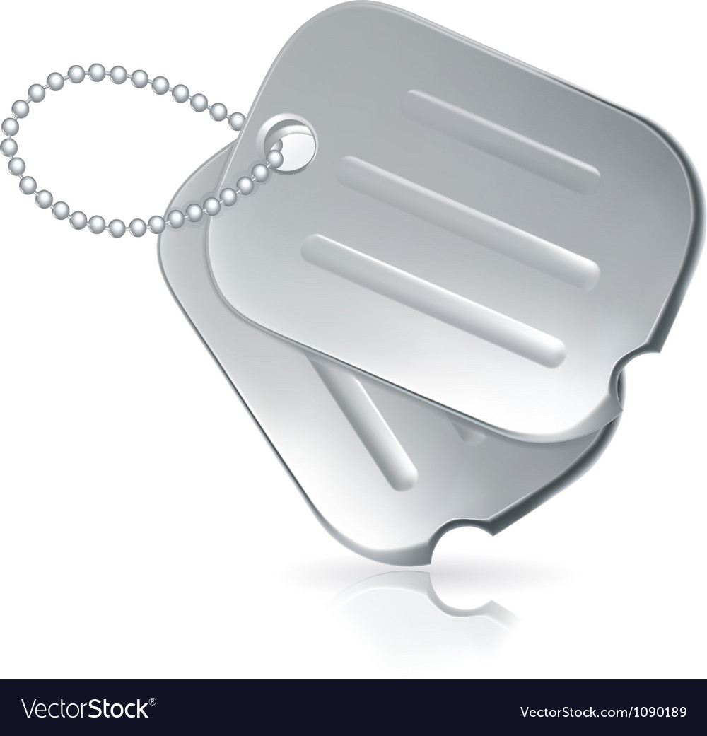 Military dog tags vector | Price: 1 Credit (USD $1)