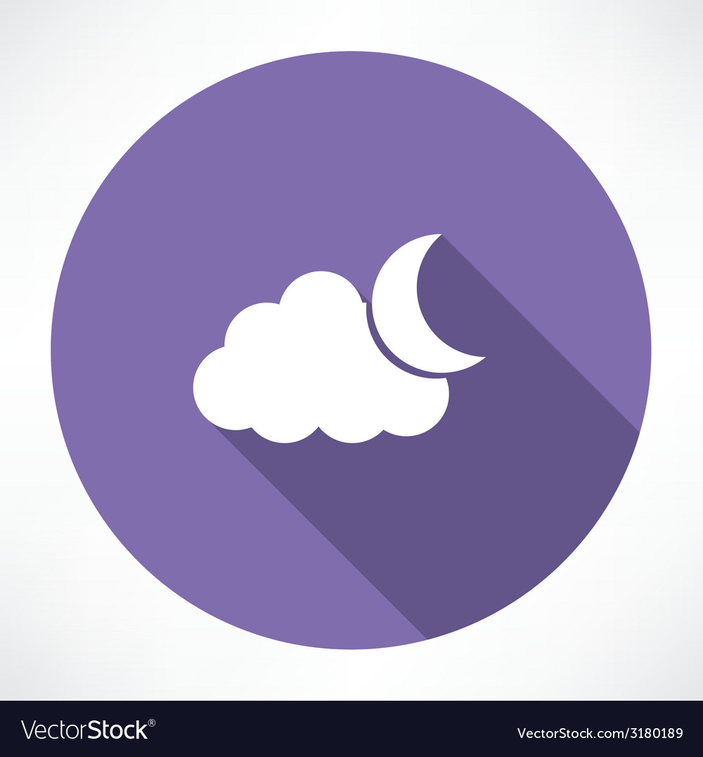 Moon and clouds vector | Price: 1 Credit (USD $1)