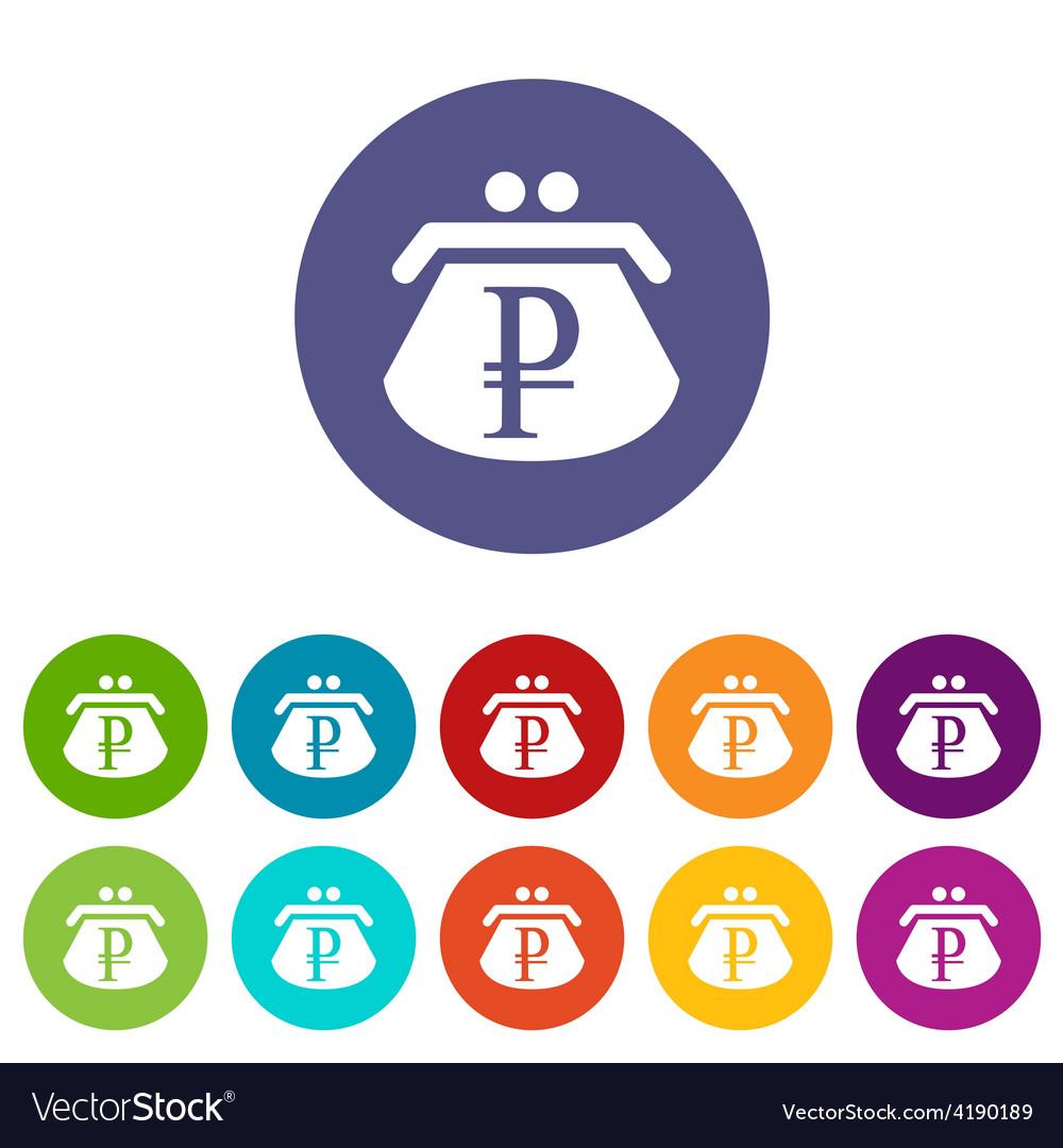 Ruble purse flat icon vector | Price: 1 Credit (USD $1)