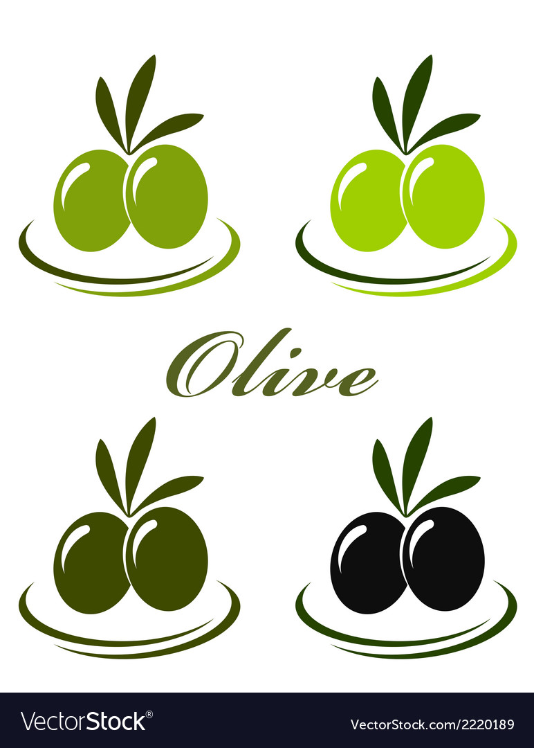 Set with colorful olives vector | Price: 1 Credit (USD $1)