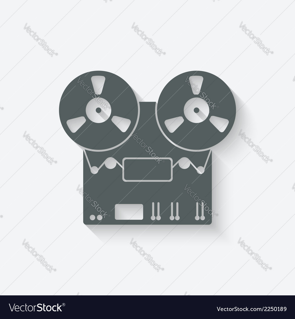 Tape recorder icon vector | Price: 1 Credit (USD $1)