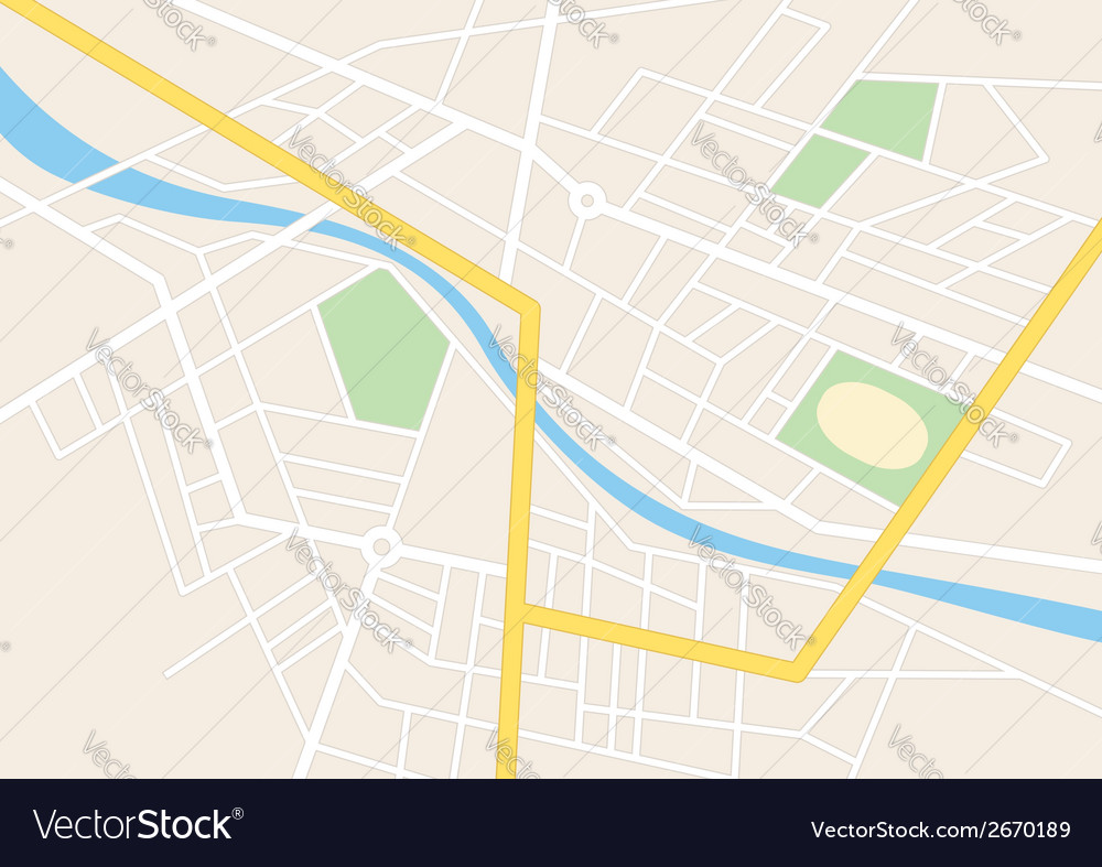 Town streets with a stadium on the plan vector | Price: 1 Credit (USD $1)