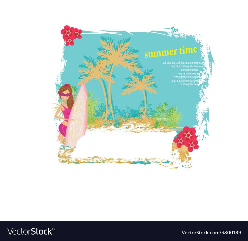 Vertor surf beach vector | Price: 1 Credit (USD $1)