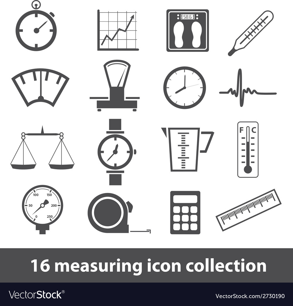 16 measuring icon collection vector | Price: 1 Credit (USD $1)
