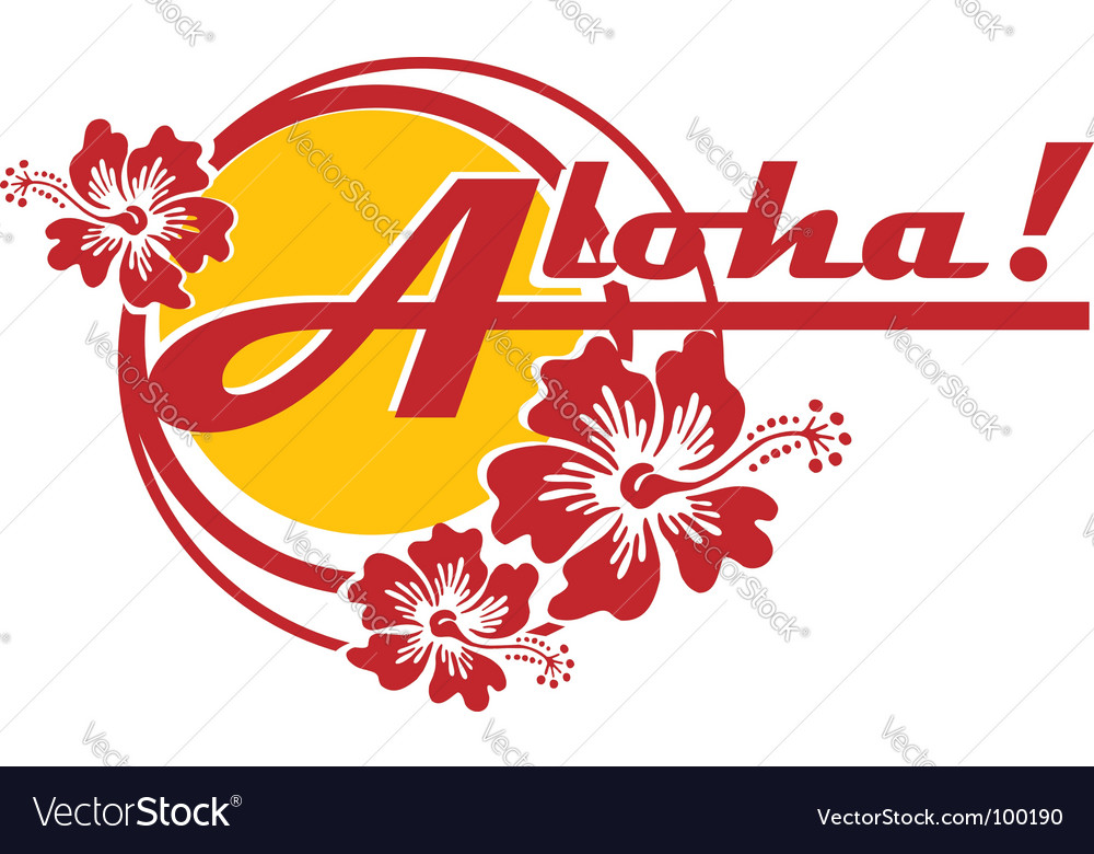 Aloha vector | Price: 1 Credit (USD $1)