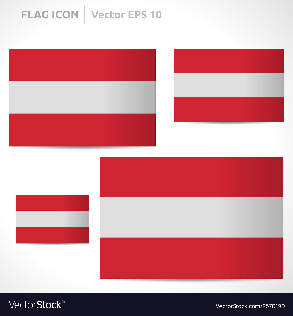 Austria flag template vector | Price: 1 Credit (USD $1)