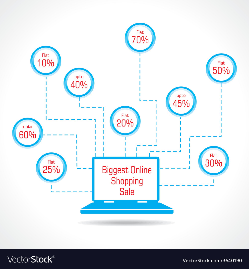 Biggest online shopping sale concept vector | Price: 1 Credit (USD $1)