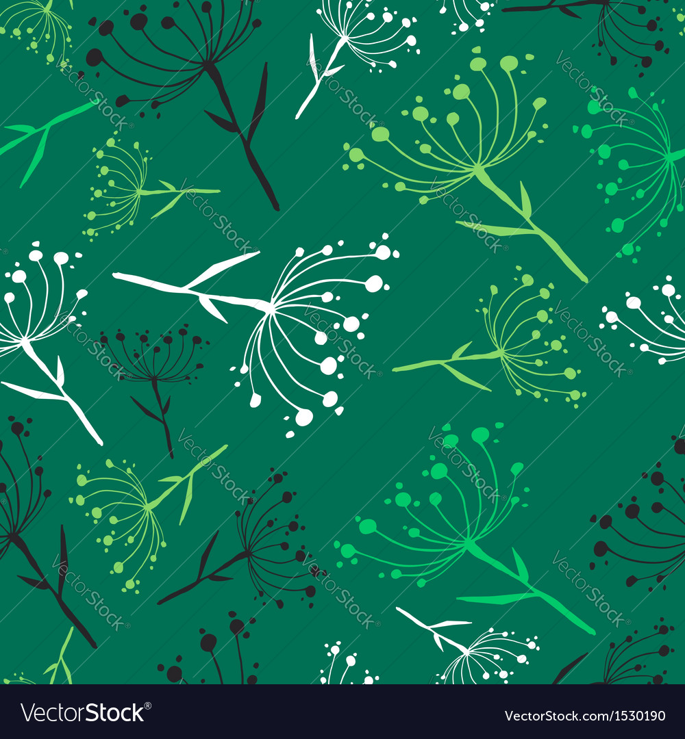 Dandelion seamless pattern vector | Price: 1 Credit (USD $1)