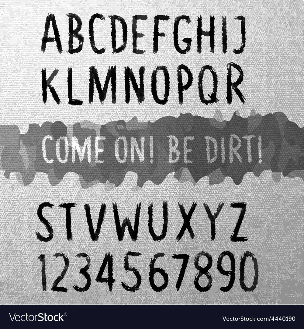 Dirty font vector | Price: 1 Credit (USD $1)