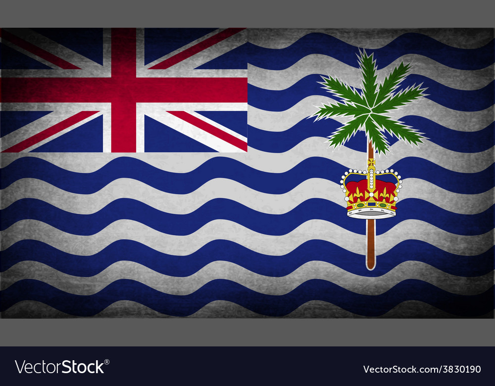 Flag of british indian ocean territory with old vector   Price: 1 Credit (USD $1)