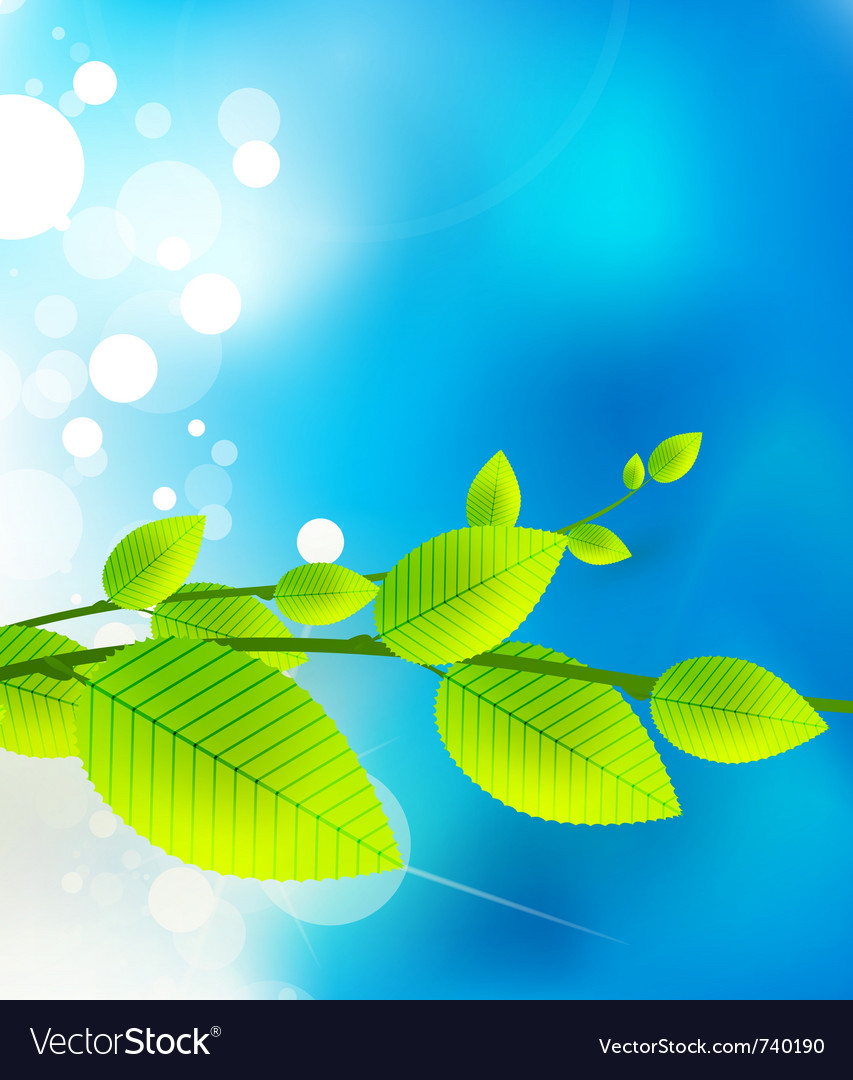 Fresh nature background vector | Price: 1 Credit (USD $1)