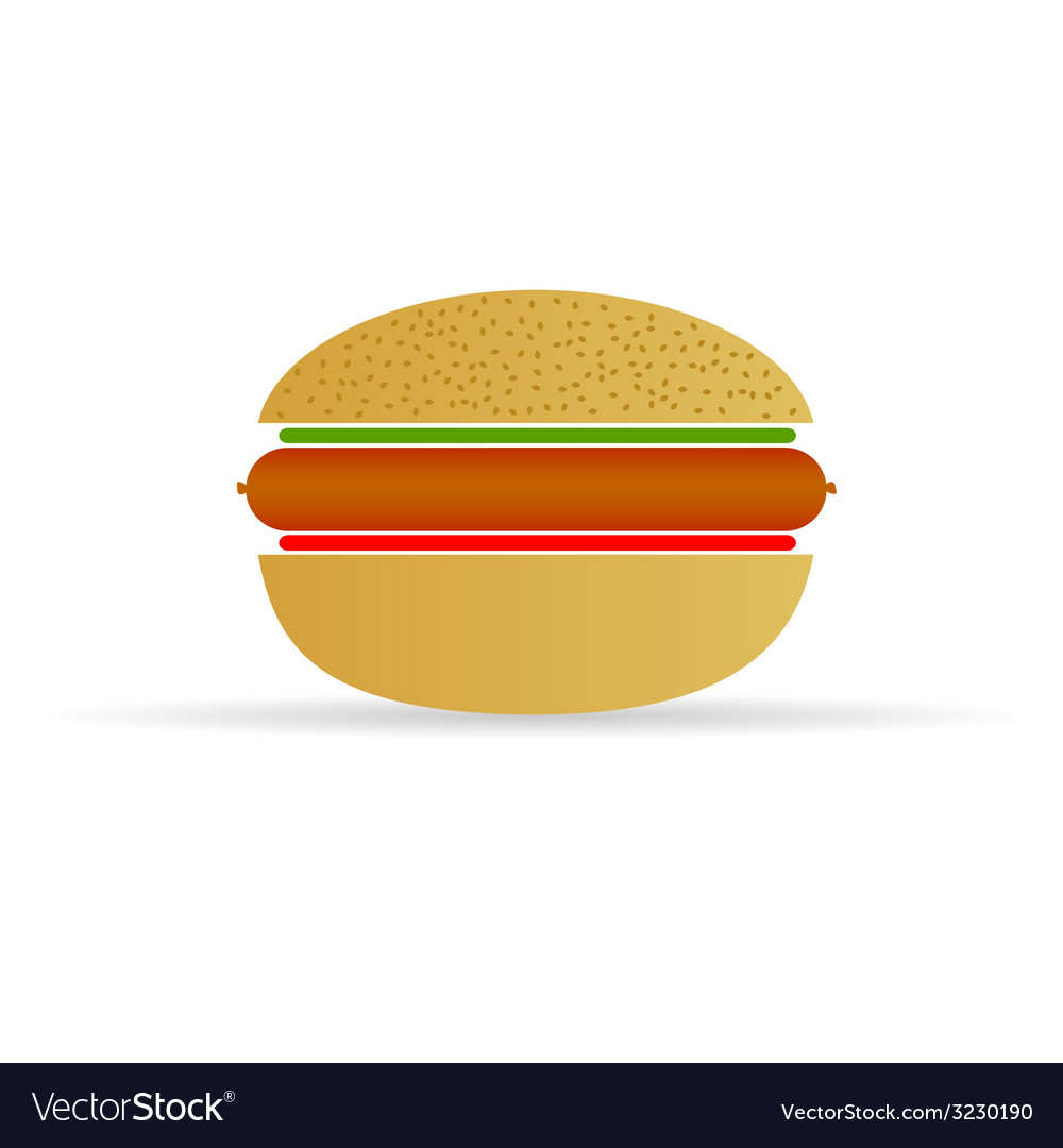 Hot dog in a bun vector | Price: 1 Credit (USD $1)