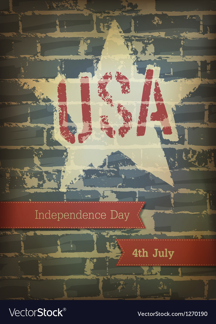 Independence day brick background vector | Price: 1 Credit (USD $1)