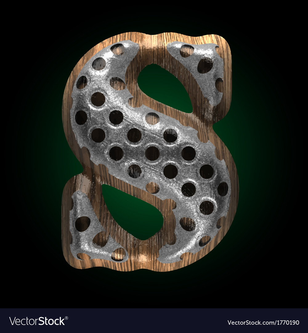 Metal and wood figure s vector | Price: 1 Credit (USD $1)