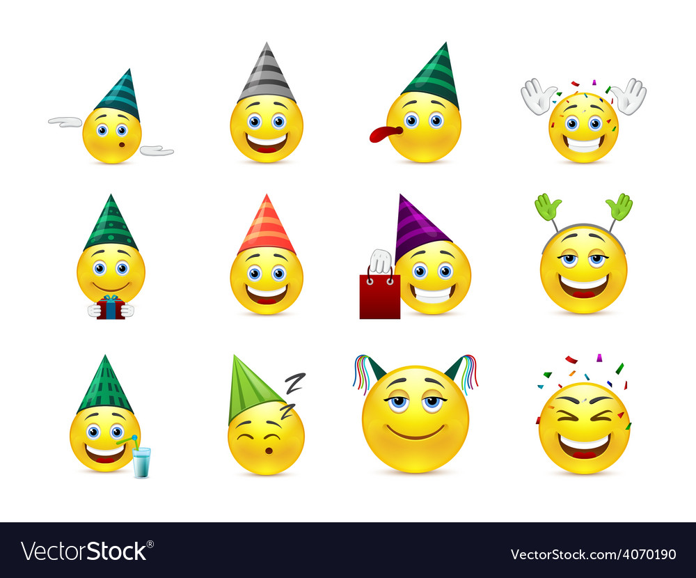 Smiles at the birthday party vector | Price: 1 Credit (USD $1)