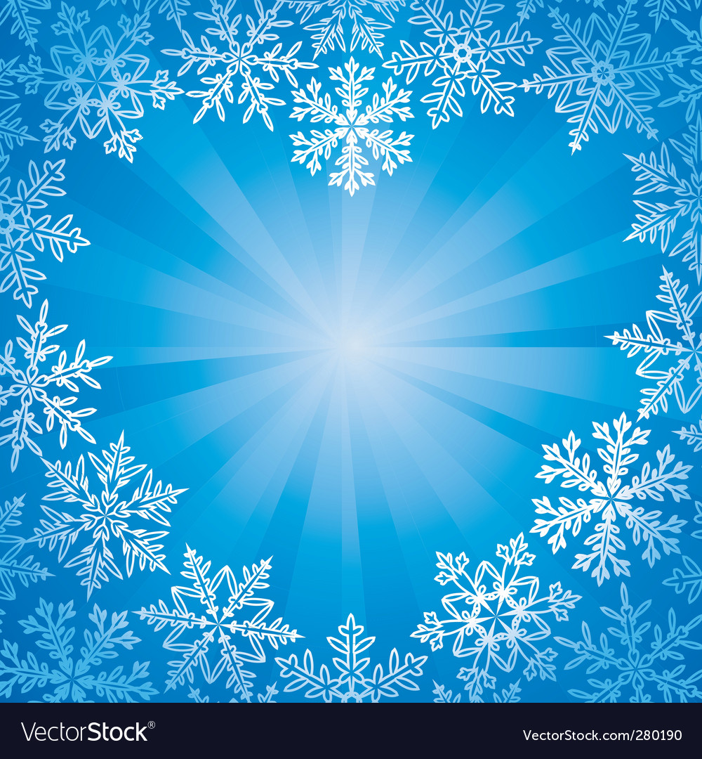 Snow frame vector | Price: 1 Credit (USD $1)
