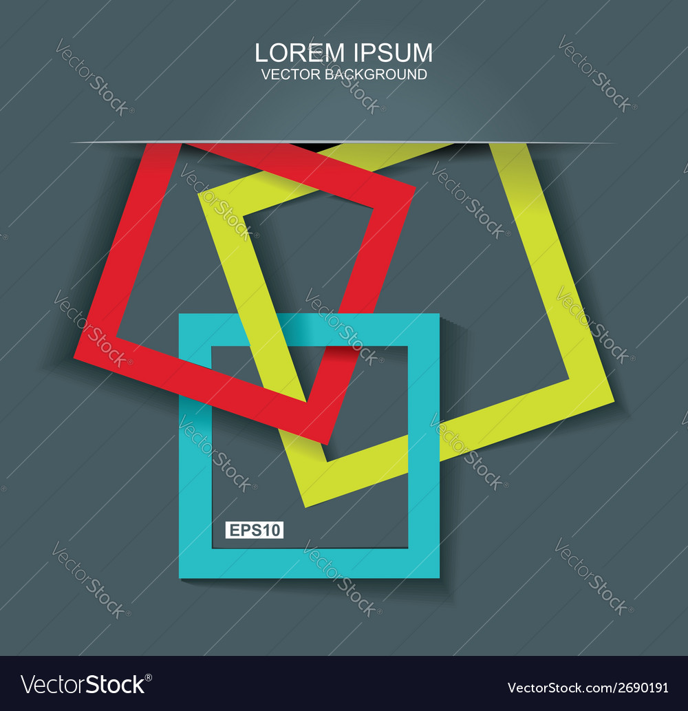 Abstract background with color frames vector | Price: 1 Credit (USD $1)