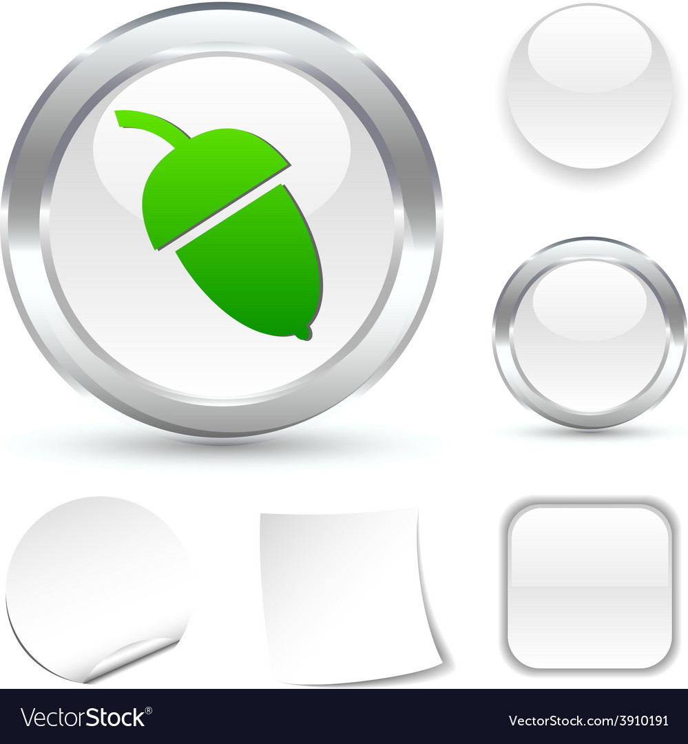Acorn icon vector | Price: 1 Credit (USD $1)