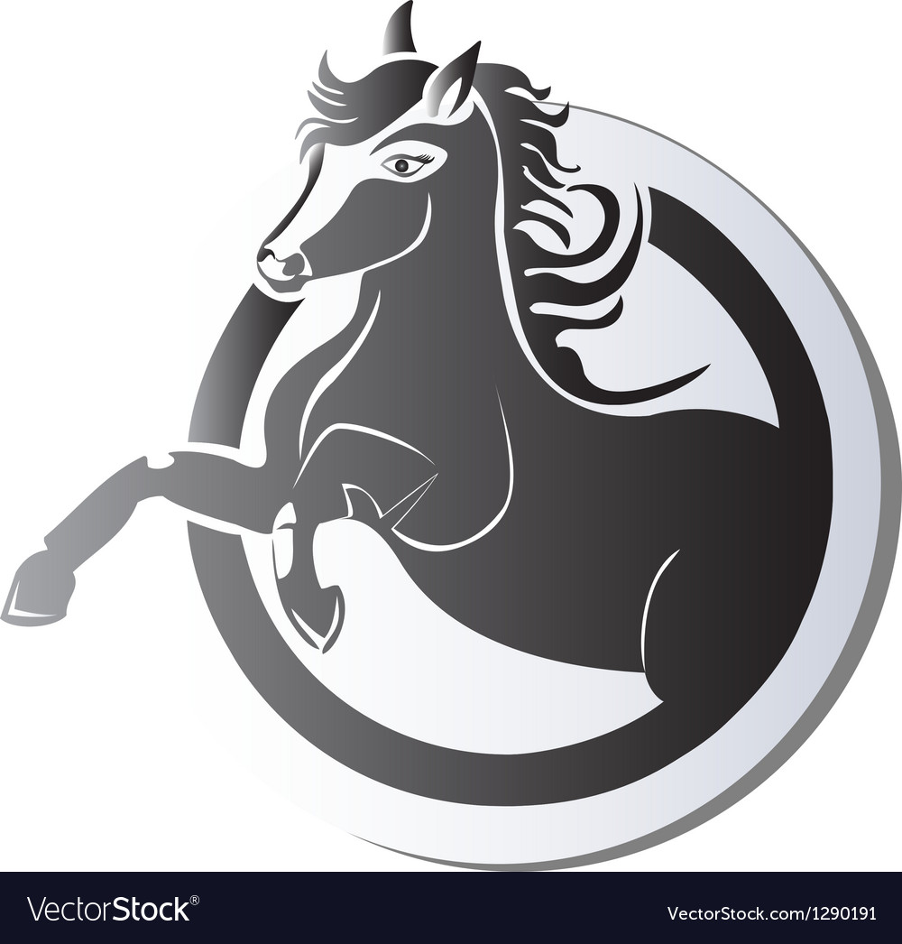 Black horse logo vector | Price: 1 Credit (USD $1)