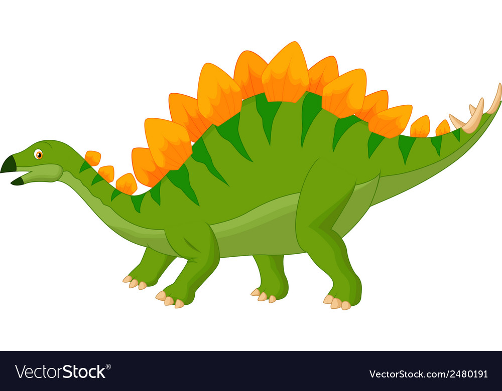 Cartoon stegosaurus vector | Price: 1 Credit (USD $1)