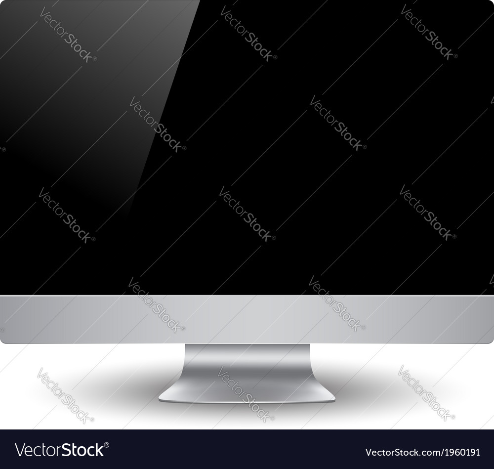 Computer display vector | Price: 1 Credit (USD $1)