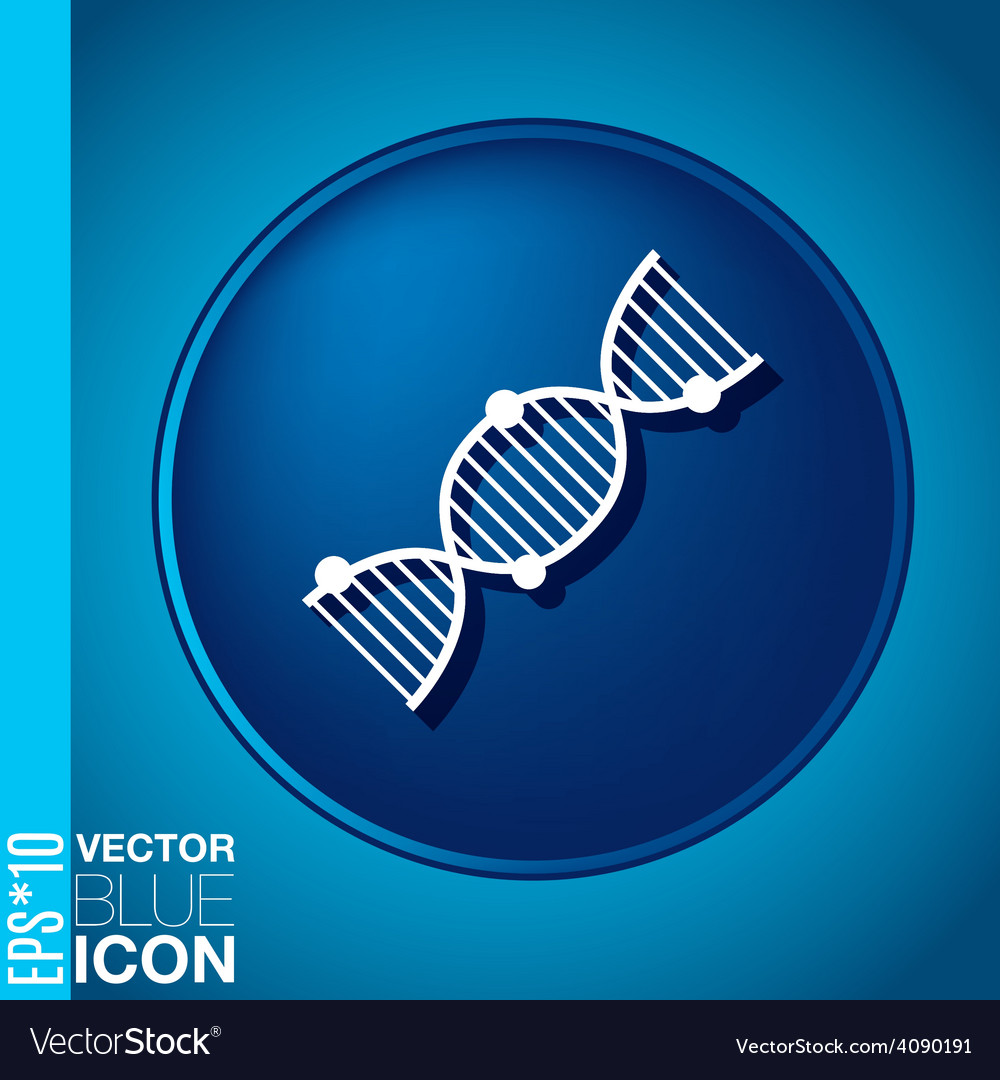 Dna helix medical research character symbol of vector | Price: 1 Credit (USD $1)