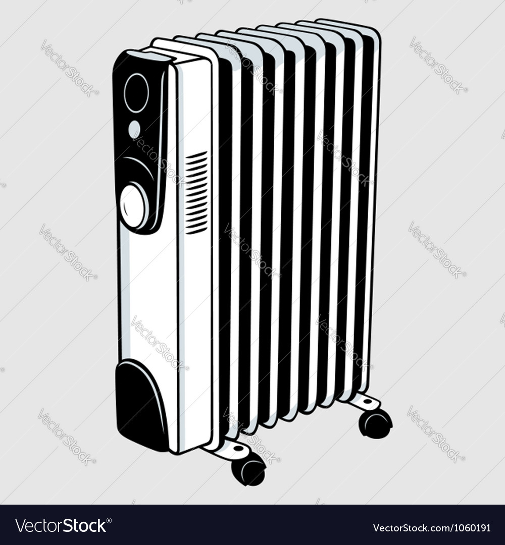 Electric heater vector | Price: 1 Credit (USD $1)