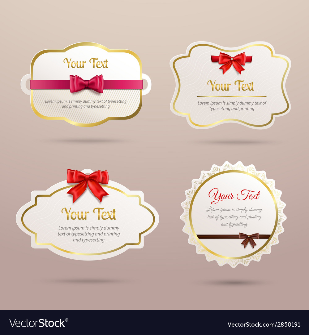 Gift labels set vector | Price: 1 Credit (USD $1)