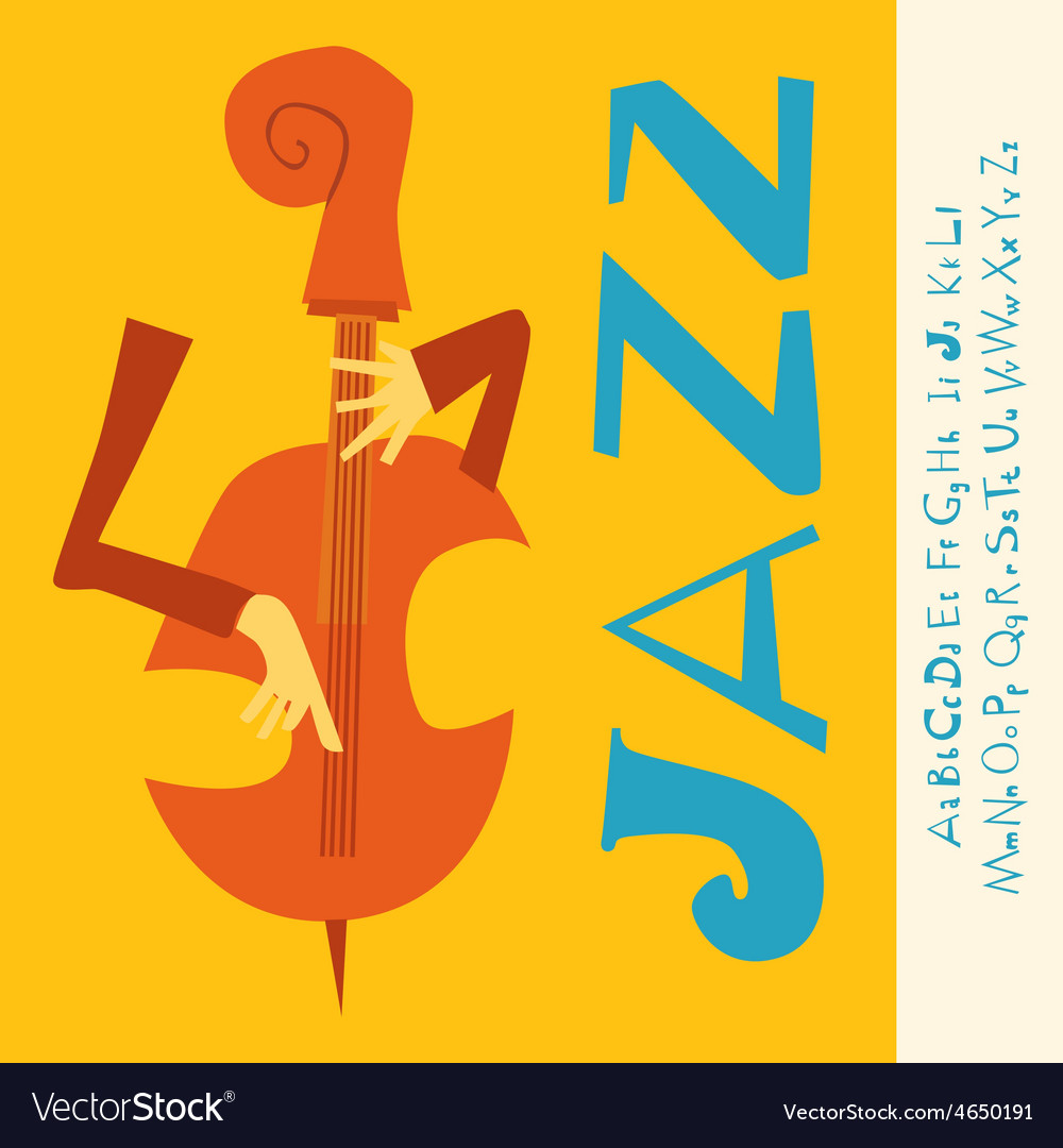 Jazz concert music with font vector | Price: 1 Credit (USD $1)
