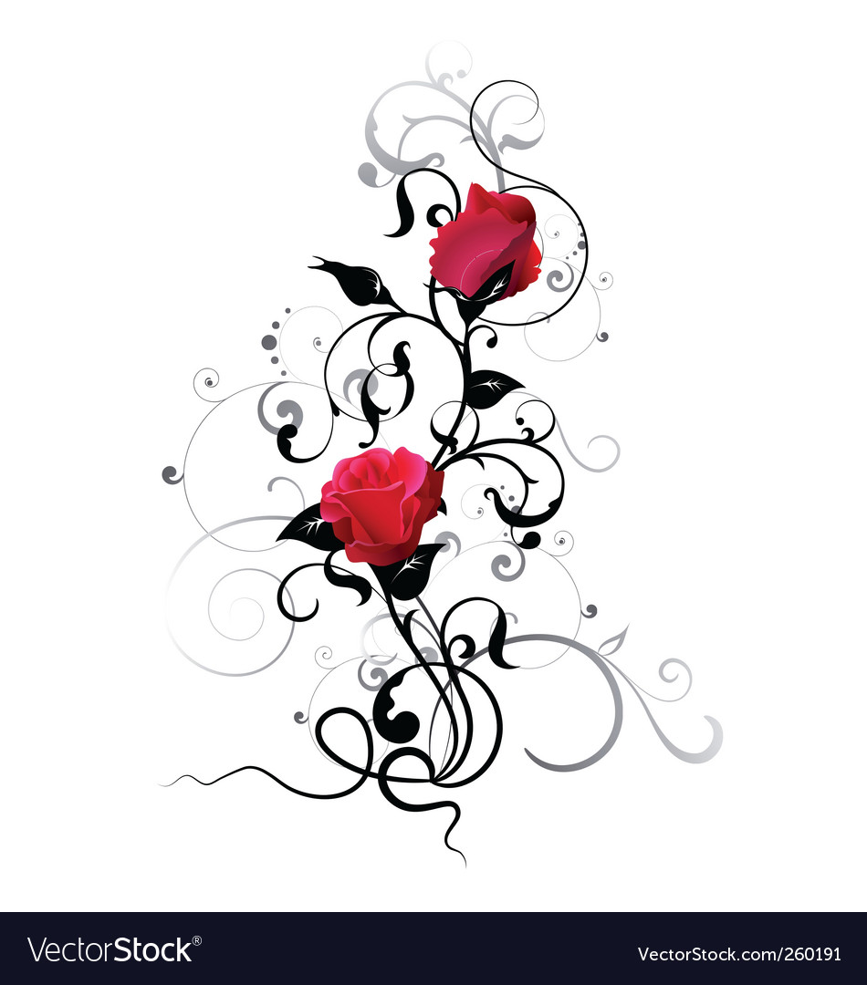 Rose element vector | Price: 1 Credit (USD $1)