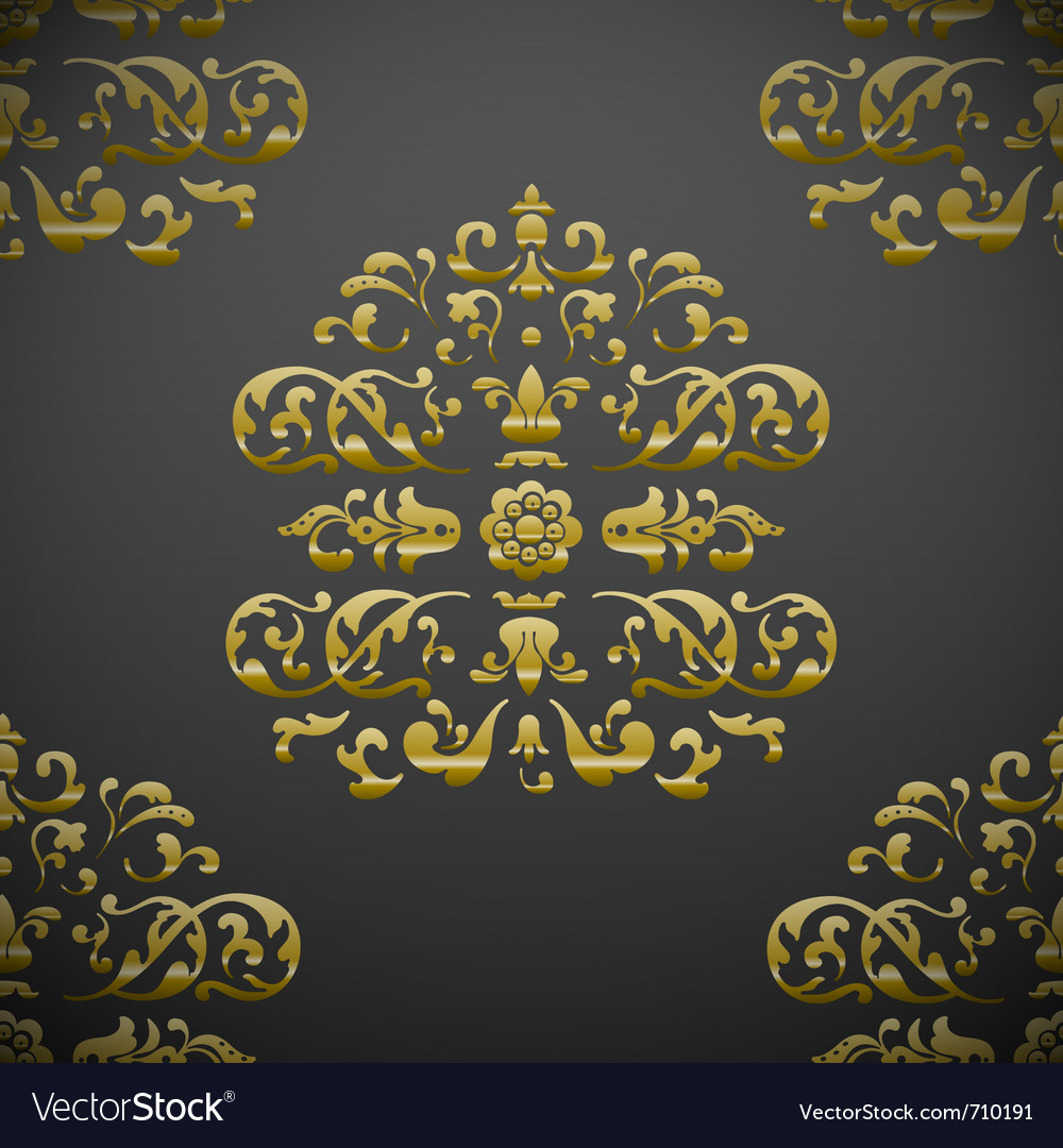 Seamless royal floral pattern vector | Price: 1 Credit (USD $1)